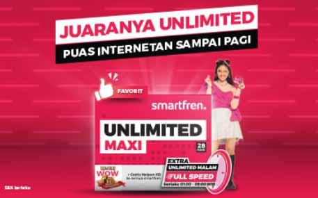 Paket Internet Smartfren Super 4G Unlimited
